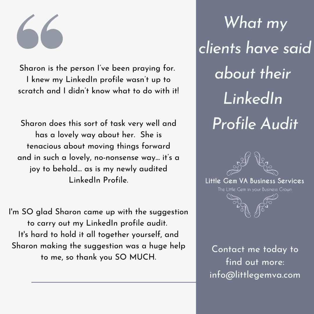 Feedback Testimonial LinkedIn